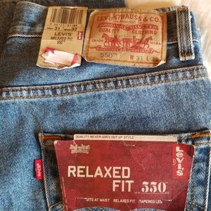 Mens Levi's 550 relaxed fit jeans